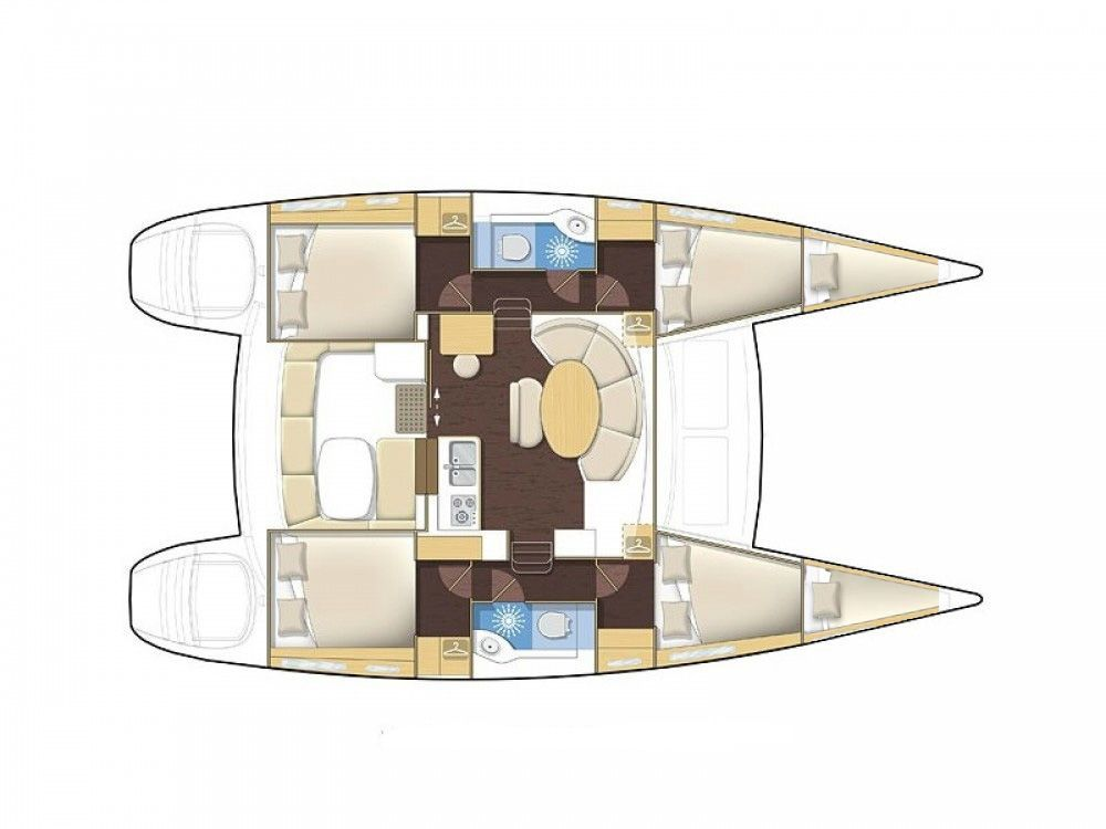 Lagoon 380 6 kabin